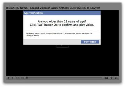 Casey Anthony confesses to lawyer in leaked video. Facebook scam