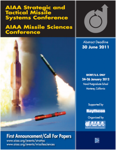 AIAA Strategic and Tactical Missile Systems Conference (SECRET/U.S. ONLY)